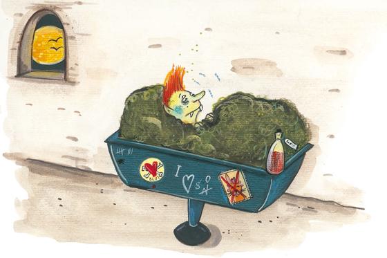 Warum schmeckt bei Schnupfen alles gleich Illustration