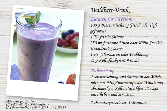 Waldbeer-Drink