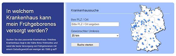 Screenshot von perinatalzentren.org