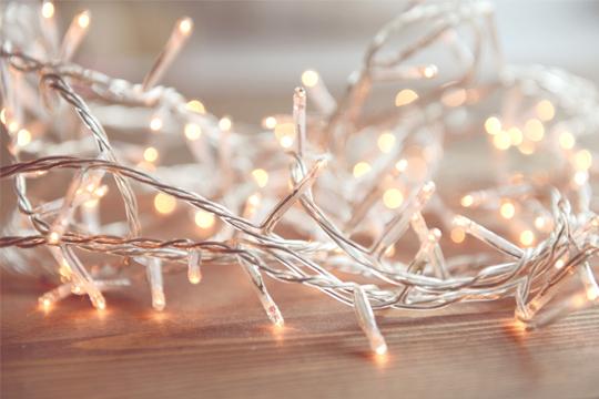Sparsame Weihnachtsbeleuchtung