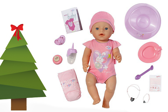 Weihnachtsgeschenke Klassiker von Zapf: Baby born als Weihnachtsgeschenk für Kinder