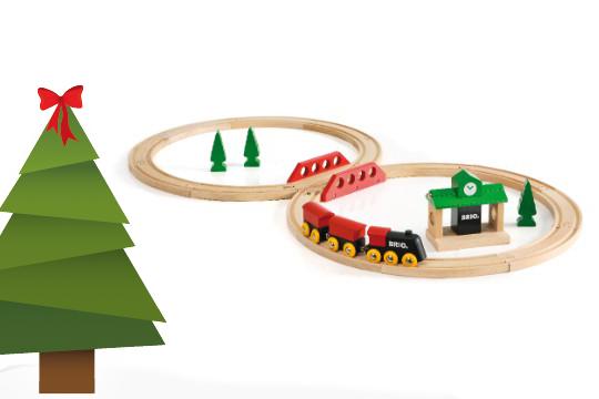 Weihnachtsgeschenke für Kinder: Eine Holzeisenbahn als Weihnachtsgeschenke Klassiker für die Kleinen