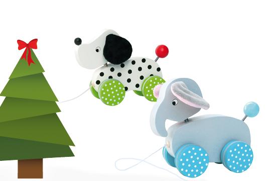 Weihnachtsgeschenke für Kinder: Ein Nachziehtierchen als Weihnachtsgeschenke Klassiker für die Kleinen