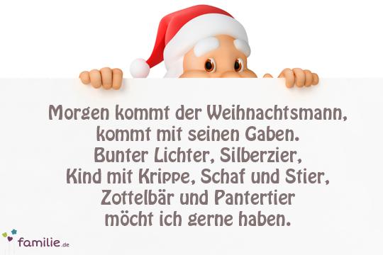 Weihnachtslieder Mit Text.Weihnachtslieder Morgen Kommt Der Weihnachtsmann Bilder Familie De