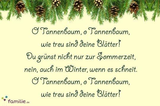 Weihnachtslieder Oh Tannenbaum.Weihnachtslieder Die Deutschen Klassiker Familie De