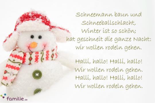 Lustige Weihnachtslieder Texte.Weihnachtslieder Schneemann Baun Und Schneeballschlacht