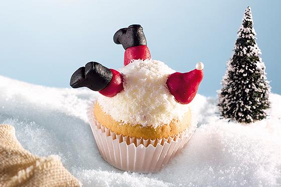 Weihnachtsmuffin: Nikolaus im Schnee