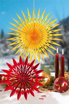 Roten und gelben Weihnachtsstern basteln