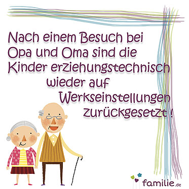 Facebook Sprüche: Wenn Großeltern erziehen   Bilder   Familie.de
