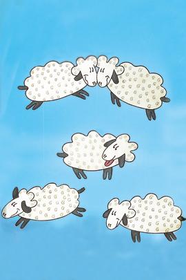 WindowColor: Schafe mit Vorlage