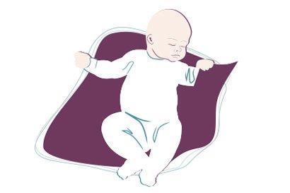 Dateineinschnitt auf Scansex von Baby