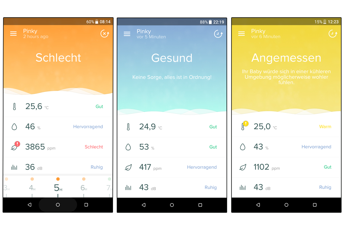 Screenshot von der healthy home coach App