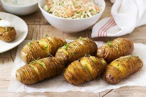 Akkordeon-Kartoffeln vom Grill