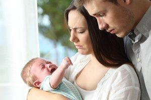 Das Baby schreit und ist nicht zu beruhigen